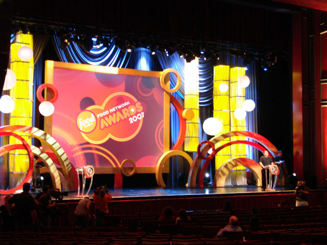Silver scenic design for Annual function stage decoration